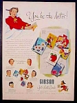 Gibson Get Well Cards Ad - 1951