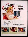 General Electric Ge Radios Ad - 1947