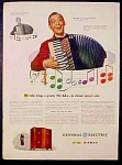General Electric Ge Fm Radio Ad - Phil Baker - 1947