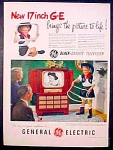 General Electric Ge Black Daylite Television Ad - 1951