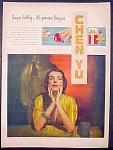 Richard Hudnut Chen Yu Make Up Ad - 1949