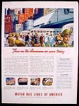 Motor Bus Lines Of America Ad - 1944