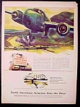 North American Aviation Sets The Pace Ad - 1945 Kramer Art Work