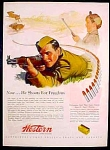 Western World Champion Ammunition Ad - 1944