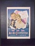 Chesterfield Cigarettes Ad - 1946