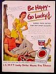 Lucky Strike Cigarettes Ad - 1951