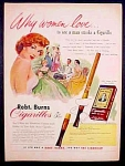 Robt. Burns Cigarillos Ad - 1952