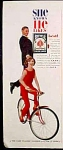 Bicycle Rider Back Playing Cards Ad - 1960