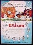 Wilson Sports Equipment Ad - 1951