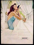 Pacific Sheets Ad - Gannam Art - 1947