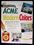 Acme Quality Paints Ad - 1951