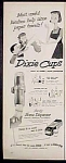Dixie Cups Ad - 1952