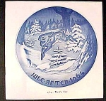 Bing Grondahl Christmas Plate Booklet Only 1964 - The Fir Tree