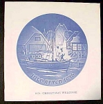 Bing Grondahl Christmas Plate Booklet Only 1976 - Christmas Welcome