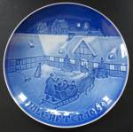 Bing & Grondahl Jule After Collector Plate Arrival Of Christmas Guests
