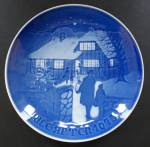 Bing And Grondahl Jule After Collector Plate Country Christmas