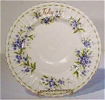 Royal Albert Luncheon Plate July Flower Of The Month - Forget-me-not