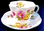 Shelley Bone China Dainty Begonia Coffee Cup And Saucer Set
