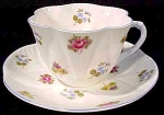 Shelley Rose Spray Forget-me-not Coffee Cup & Saucer Set Dainty Shape