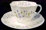 Shelley Blue Rock Coffee Cup And Saucer Set - Dainty Shape