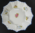 Shelley Bone China Tray With Pansies And Flowers