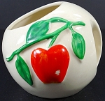 Pippin Usa Pottery Apple Sugar Bowl