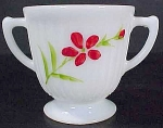 Macbeth Evans Petalware Monax Open Sugar Bowl Florette Decoration