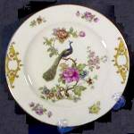 Epiag Czechoslovakia Dinner Plate With Peacock