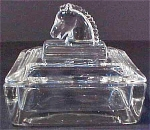 Heisey Horse Head Cigarette Box - Small