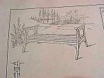 Vintage Blueprint For A Garden Bench