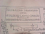 Vintage Blueprint For A Folding Lawn Chair