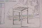 Vintage Blueprint For A Lawn Tea Table