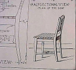 Vintage Blueprint For A Lawn Chair