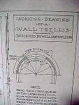 Vintage Blueprint For A Wall Trellis