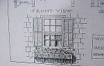 Vintage Blueprint For A Window Flower Box