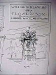 Vintage Blueprint For A Flower Box