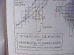 Vintage Blueprint For A Ornamental Parrot Flower Stake
