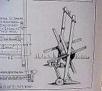 Vintage Blueprint For A Garden Hose Reel