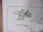 Vintage Blueprint For A Wheelbarrow