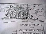 Vintage Blueprint For A Child's Playhouse