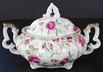 Lefton Rose Chintz Mini Covered Sugar Bowl