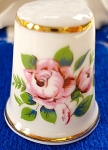 Aynsley Bone China Thimble With Roses In Original Box