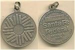 Safety Deposit Key Medallion Santa Fe Federal Ca.