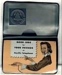 Pacific Telephone Vinyl Card Holder