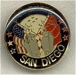 Cah Uneto San Diego Russia 1990 Souvenir Pin