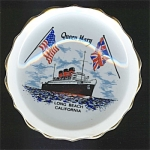 Queen Mary Long Beach Ca Souvenir Dish