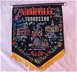 Nashville Tn Black Velvet Banner Wall Hanging