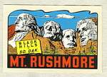 Vintage Mt. Rushmore Travel Water Decal