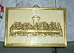 Vintage 3d Brass Lords Supper