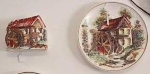 Lefton Grist Mill Wall Pocket & Decor Plate